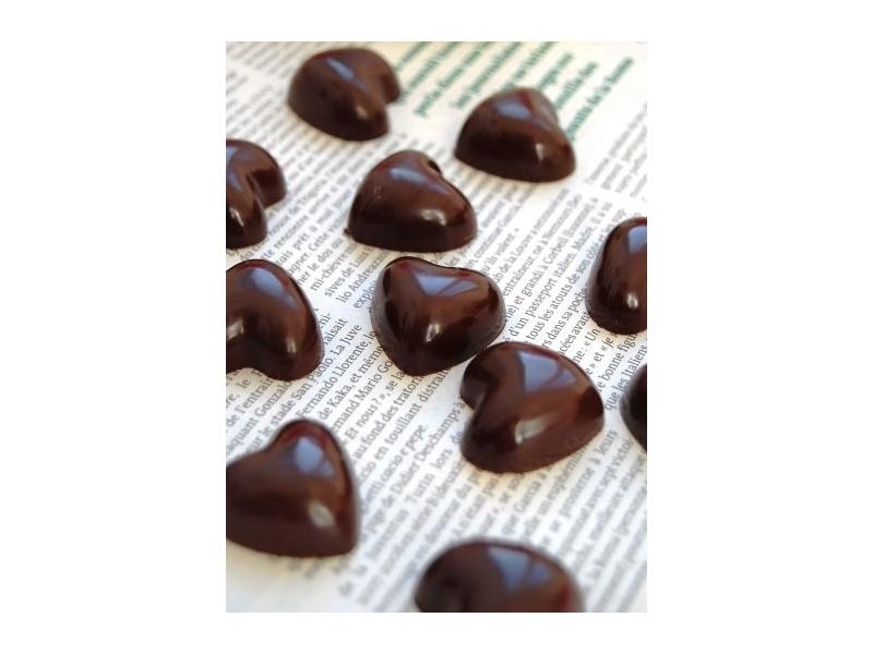 Mon coeur en Chocolat BIO de choc fleur