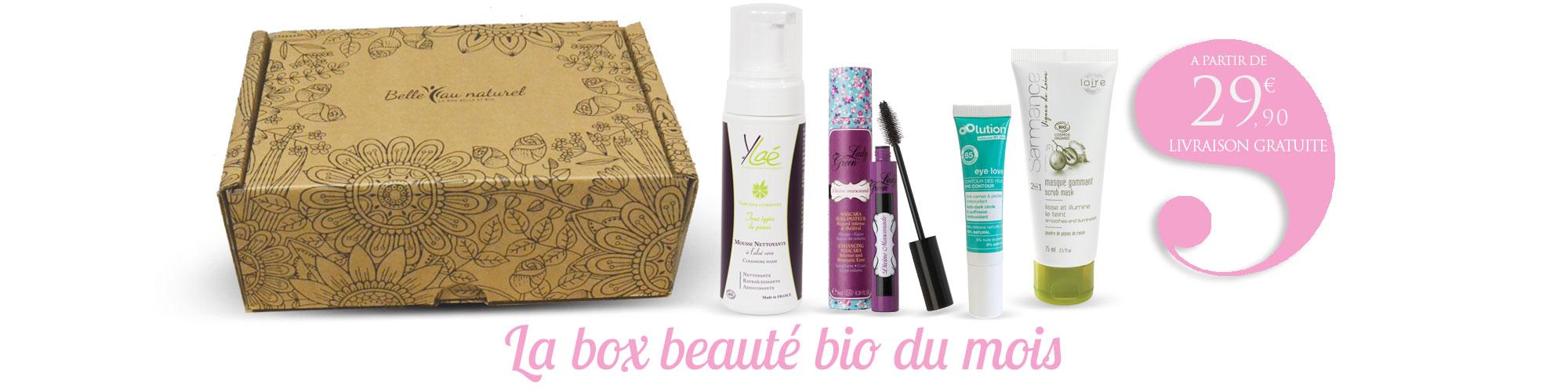 la box beaut bio belleaunaturel cosm tique maquillage et bien tre belle au naturel. Black Bedroom Furniture Sets. Home Design Ideas